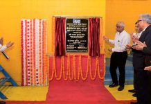 Sanjiv Nandan Sahai, Secretary (Power), GoI, inaugurating a renovated unit of Salal Power Station.