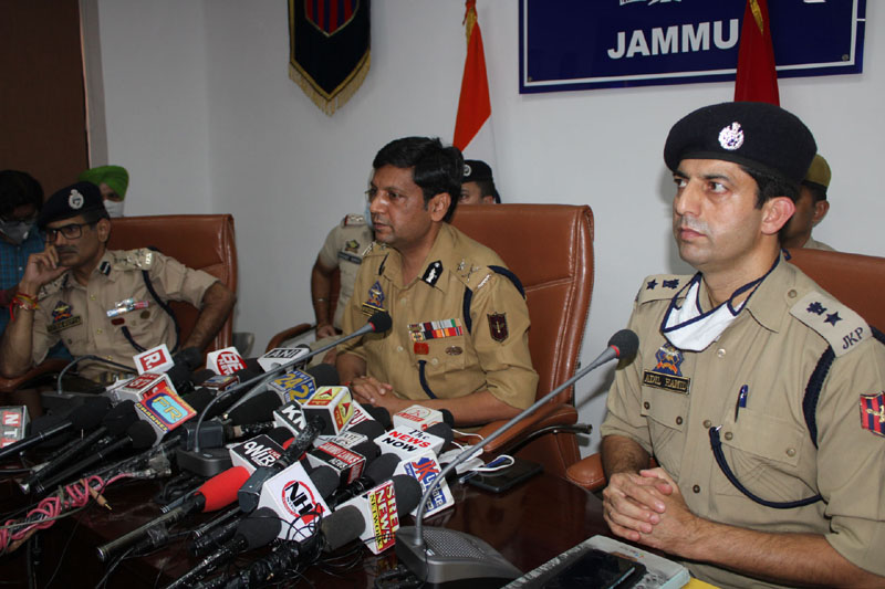 IGP Jammu Mukesh Singh interacting with media persons at Jammu on Saturday. —Excelsior/Rakesh