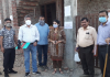 JDA team sealing illegally constructed house in Chowadhi area of Jammu on Saturday.