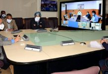 Chief Secretary B V Subrahmanyam chairing a meeting on Wednesday.