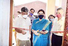 DC Jammu Sushma Chauhan inaugurating Aadhaar Enrolment Centre on Monday.