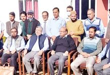 NZIEA Srinagar Division members during a meeting at Jammu on Thursday.
