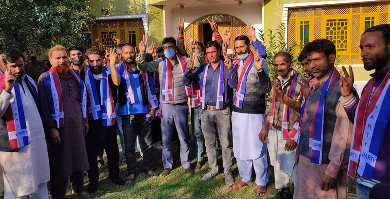Many political activists at joining function of JKAP in Pattan.
