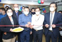 J&K Bank Executive President Sunil Gupta inaugurating JKBFSL at Janipur in Jammu.