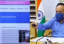 Union Minister for Health & Family Welfare, Science & Technology and Earth Sciences, Dr. Harsh Vardhan virtually launching the 'CUReD' (CSIR Ushered Repurposed Drugs) Website, in New Delhi on Tuesday.
