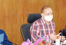 Principal Secretary Revenue Dr Pawan Kotwal reviewing working of Revenue Department in Udhampur on Wednesday.