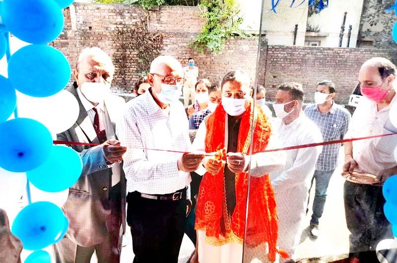 Former J&K BJP President, Sat Sharma inaugurating 'The Chef's Grill' restaurant on Rehari Colony-Rajpura road.