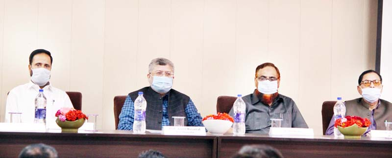 Vice Chancellor BGSBU Prof Javed Musarrat chairing panel on NEP-2020.
