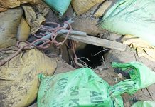 Exit of the tunnel at Regal area of Samba sector which was detected on Sunday. — Excelsior/Abhishek Badyal