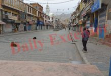 Complete bandh in Leh on Monday. -Excelsior/Morup Stanzin