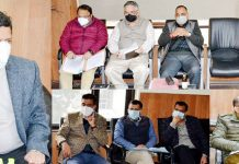 Divisional Commissioner Jammu Sanjeev Verma chairing a meeting on Thursday.