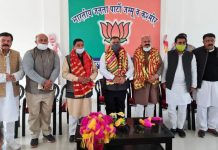 BJP national general secretary and incharge J&K Tarun Chug at an election rally at Kathua on Tuesday. —Excelsior/Madan