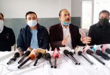 Independent Councillors of JMC addressing a press conference at Jammu on Tuesday.