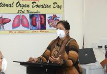 GMC Principal Dr Shashi Sharma speaking at the seminar on organ donations.