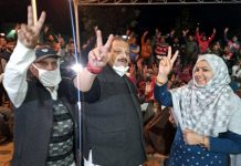 NC Provincial President Devender Singh Rana during campaign for DDC polls.