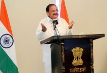 Vice President, M. Venkaiah Naidu addressing the 13th convocation of NIT Agartala, through video conferencing from Hyderabad on Tuesday.