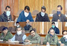 DC Udhampur Dr Piyush Singla chairing a meeting on Wednesday.
