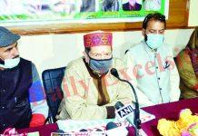Senior RSS leader Indresh Kumar addressing a seminar at Jammu on Tuesday. -Excelsior/Rakesh