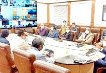 Principal Secretary to PM Dr P K Mishra reviewing implementation of PMDP projects on Thursday.