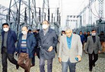 Principal Secretary, Power Development and Information Departments, Rohit Kansal inspecting grid station in Srinagar.