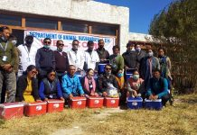 A team of Animal and Sheep Husbandry Department of Union Territory of Ladakh on achieving the highest FMD vaccination.