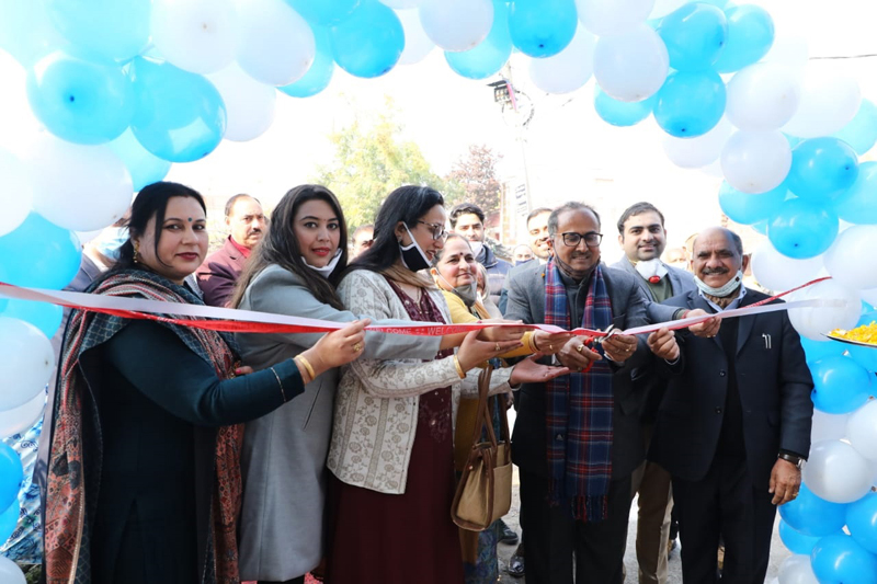 Former DyCM Dr Nirmal Singh inaugurating dental clinic in Talab Tillo on Monday.