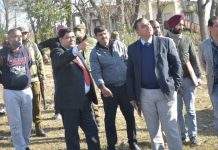 DC Rajouri during visit to Lam area.