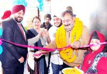 Former MLC Vikram Randhawa inaugurating Kohinoor Restaurant. -Excelsior/Rakesh