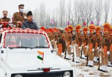 DC Baramulla inspecting Republic Day parade.