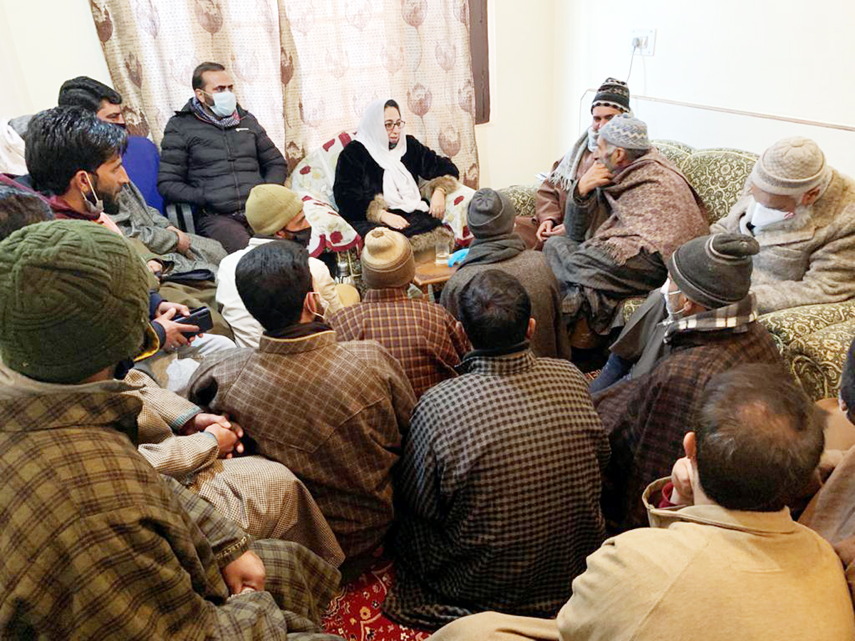 BJP Spokesperson, Dr Darakhshan Andrabi in a meeting with Budgam people on Friday.