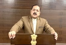 """Union Minister Dr. Jitendra Singh delivering the inaugural address at the 2-day All India Conference """"NAPCON"""" of Pulmonary Medicine and Chest Physicians on Wednesday."""