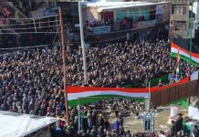 Republic Day celebrations in Kargil. — Excelsior/Basharat Ladakhi