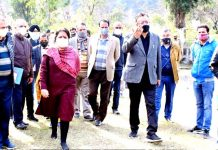 Principal Secretary Agriculture, Navin Choudhary during visit to Reasi.