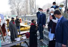 Lieutenant Governor Manoj Sinha during his tour of Srinagar city on Wednesday.