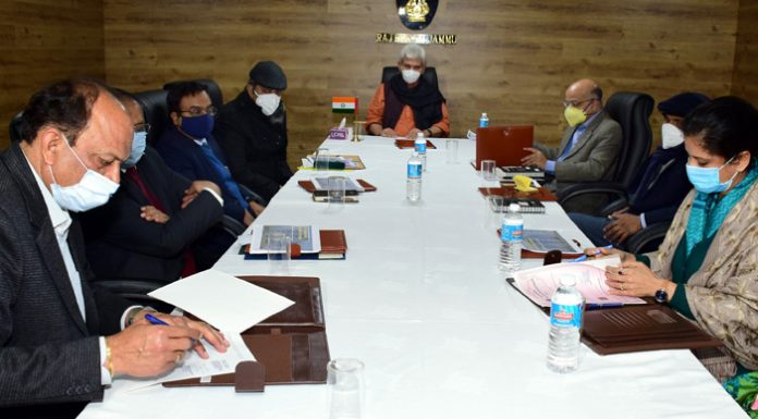 Lieutenant Governor Manoj Sinha during MoU signing ceremony for setting up of LT Towers in Jammu on Monday.