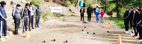 Players participating in Bocce Ball camp at Patnitop.