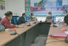 Nagendra Singh Jamwal, Administrator GMC&AH chairing a SOTTO meeting at Jammu.