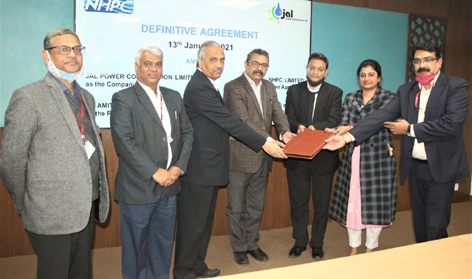 NHPC Resolution Professional and Secured Financial Creditors (PFC and PNB) after signing Definitive Agreement for takeover of HE Project in Sikkim.