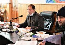 DDC Ganderbal Shafqat Iqbal chairing a meeting.