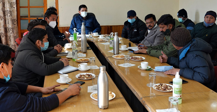 CEC Leh and councilors during meeting with Commander Project Vijayak of BRO.