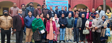Members of Pvt Schools Association during a meeting.