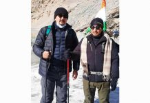 Leh CEC alongwith MP Ladakh on trekking to reach Zanskar.