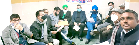 Members of various NGOs and others during an awareness programme in SSH Jammu.