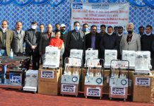 Medical equipments being provided by Dulhasti Power Station to DH Kishtwar.