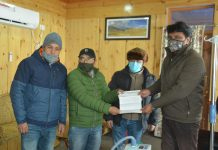 Chairman/CEC LAHDC Kargil Feroz Ahmad Khan dedicating High Flow Oxygen Nasal Canola Machine for District Hospital Kargil.