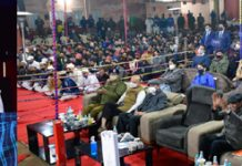 Lt Governor speaking during a function at District Jail Jammu on Monday.