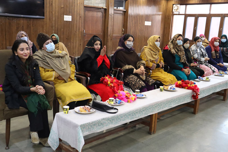 Women joining National Conference in Srinagar. -Excelsior/Shakeel