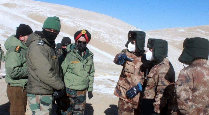 Disengagement betwen Indian Army and Chenese forces at Pangong lake.