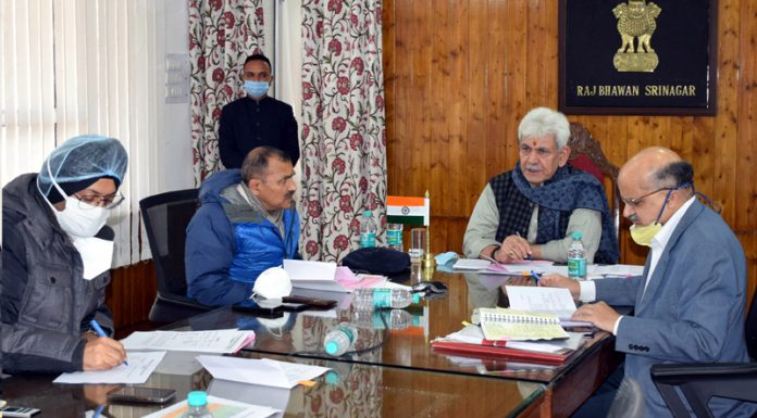 Lieutenant Governor Manoj Sinha at public grievance hearing in Srinagar on Thursday.