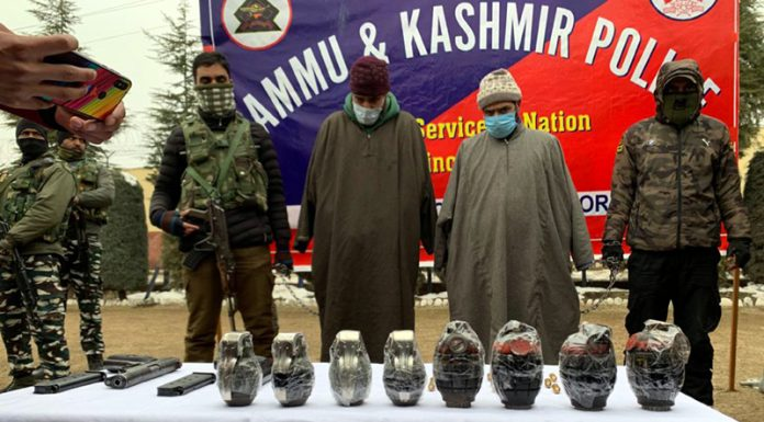 Two militant associates in custody of security forces in Bandipora.